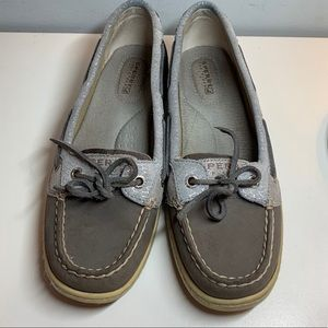 Sperry Top Sliders Anglefish Boat Shoes Graphite